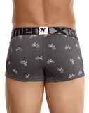 Xtremen 51437c Cycling Print Boxer Briefs Dark Gray - StevenEven.com