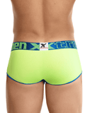 Xtremen 91035 Mini Short Boxer Briefs Green-blue - StevenEven.com