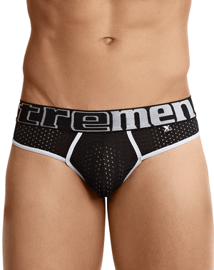 Xtremen 91036 Mesh Thongs Black - StevenEven.com
