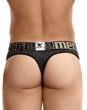 Xtremen 91044 Ethnic Jacquard Thongs Black - StevenEven.com