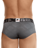 Xtremen 91051 Jacquard Stripes Briefs Gray - StevenEven.com