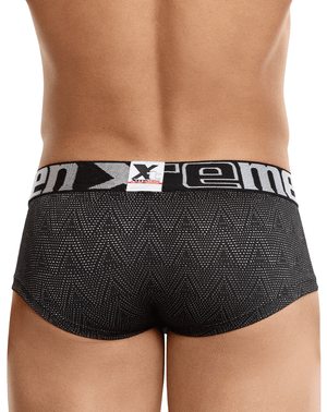 Xtremen 91052 Ethnic Jacquard Briefs Black