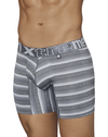 Xtremen 51415 Boxer Briefs Microfiber Stripes Gray