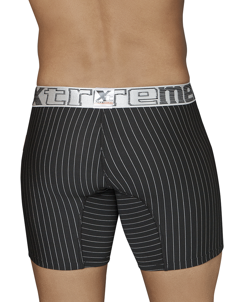 Xtremen 51419 Boxer Briefs Microfiber Stripes Black