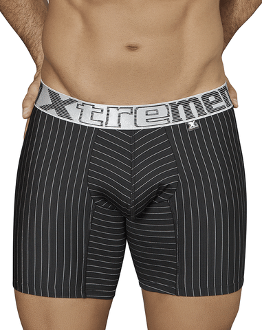 "Unico 1740094399 Boxer Briefs Happiness Microfiber 10"" Black"