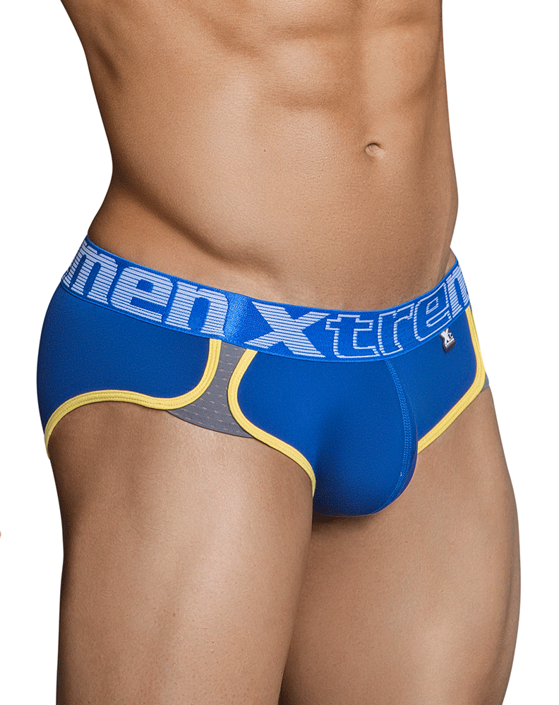 Xtremen 91019 Microfiber And Mesh Briefs Blue