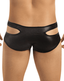 CANDYMAN 99040 Neon Effect Gap Brief Black - Steveneven.com