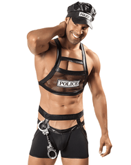CANDYMAN 99152 Police Outfit Black - Steveneven.com