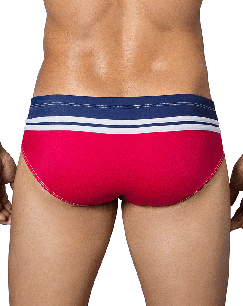 Clever 0649 Fresh Swim Briefs Red