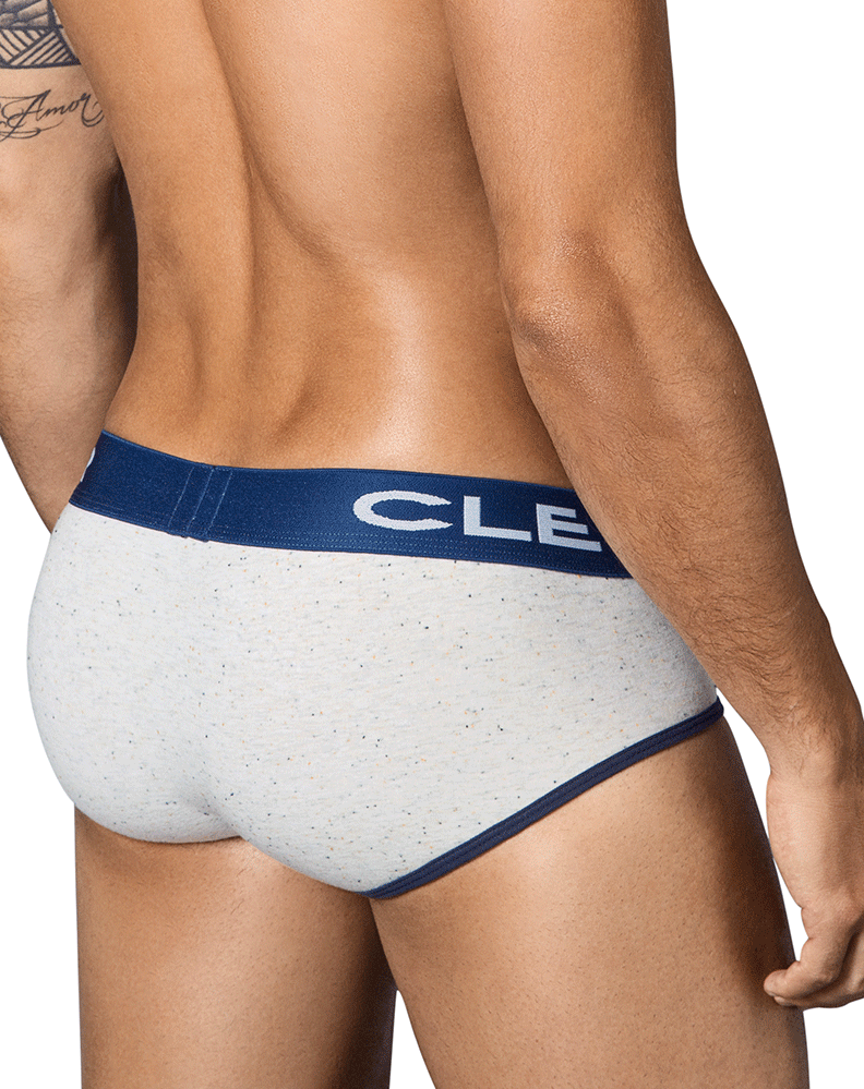 CLEVER 5337 Sparkies Piping Briefs Gray