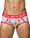 Clever 5340 Matches Piping Briefs White