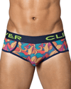 Clever 5341 Peace and Love Piping Briefs Blue - StevenEven.com
