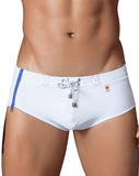 CLEVER 0637 Zipper Swimsuit Brief White