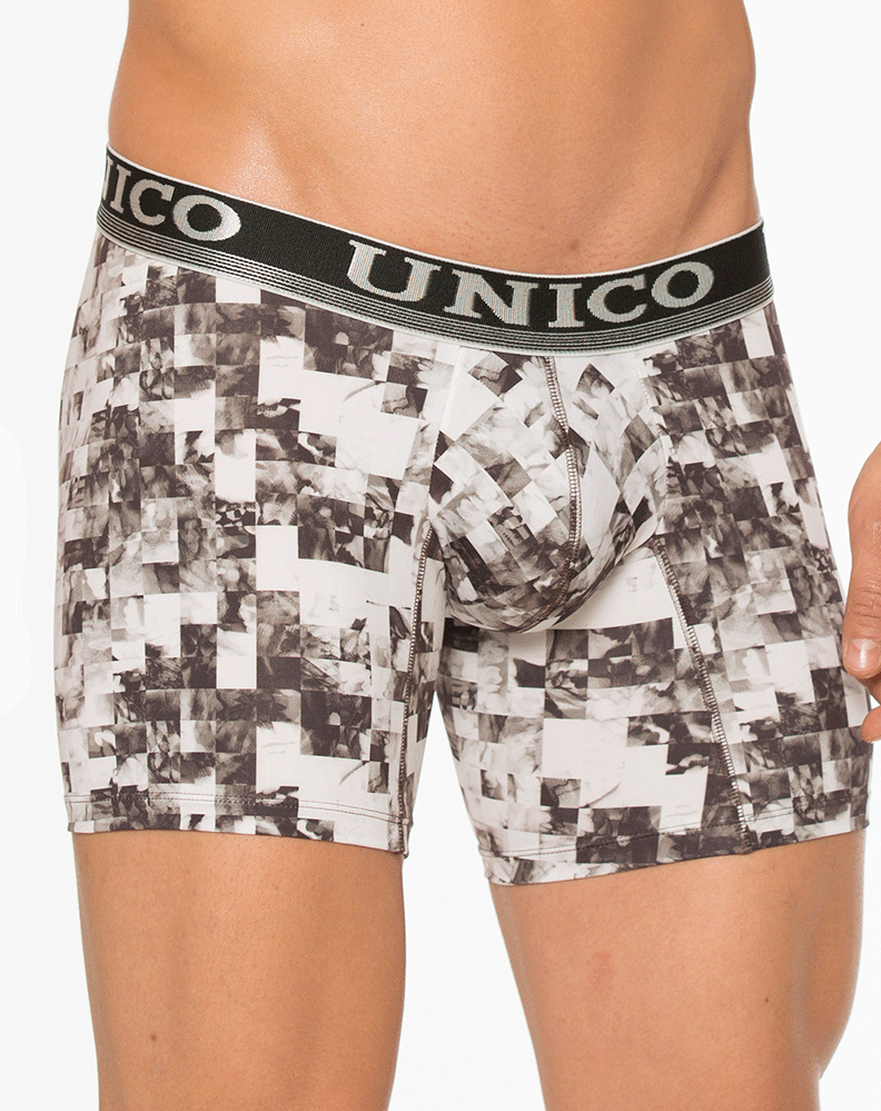 "Unico 1730093929 Boxer Brief Microfiber 10"" Chango Multi"