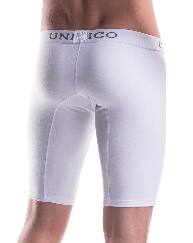 "Mundo Unico 9610100100 Boxer Brief Cristalino Cotton White 15"" - StevenEven.com"