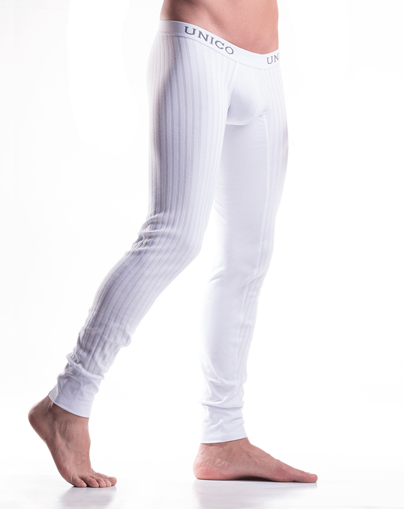 Mundo Unico 9610110100 Long Johns Cristalino Cotton White - StevenEven.com