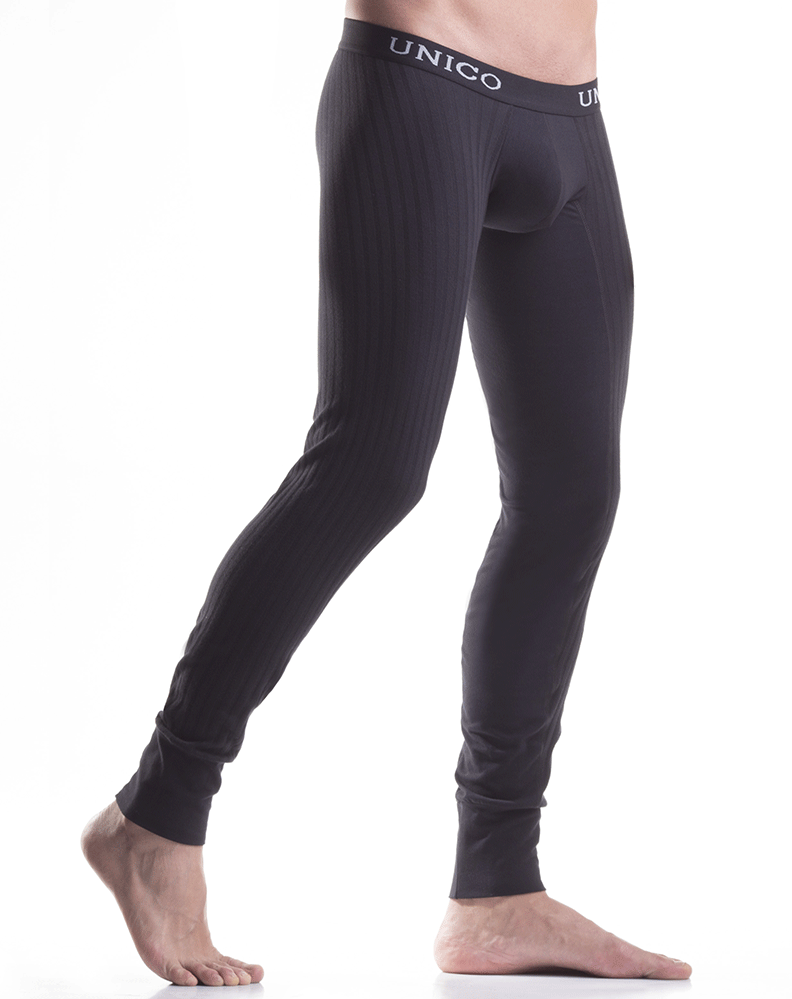 Mundo Unico 9610110199 Long Johns Profundo Cotton Black Intenso