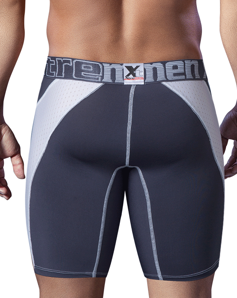Xtremen 51408 Sport Performance Breathable Boxer Briefs White-Gray - StevenEven.com
