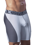 XTREMEN 51408 Sport Performance Breathable Boxer Briefs Gray-White