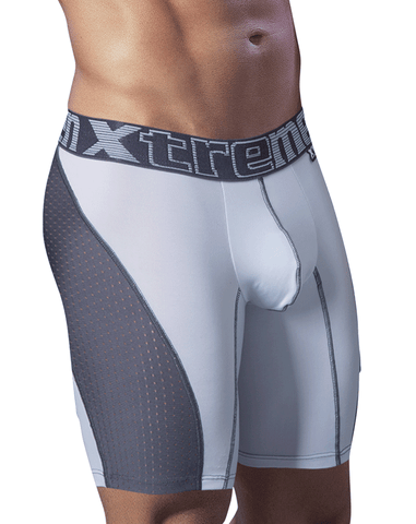 Xtremen 51346 Microfiber Boxer Brief White 10""