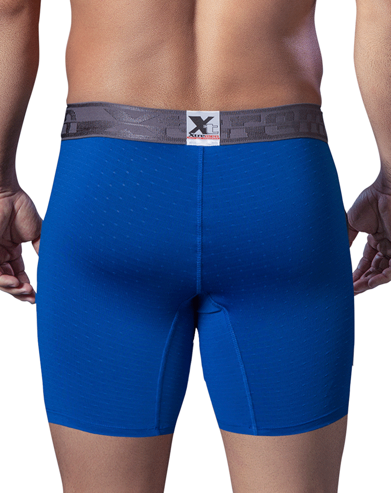 XTREMEN 51409 Microfiber Athletic Boxer Briefs Blue