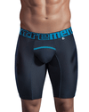 Xtremen 51403 Sports Microfiber Boxer Briefs Black - StevenEven.com