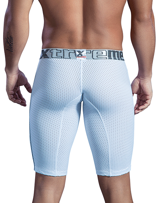 Xtremen 51403 Sports Microfiber Boxer Briefs White - StevenEven.com