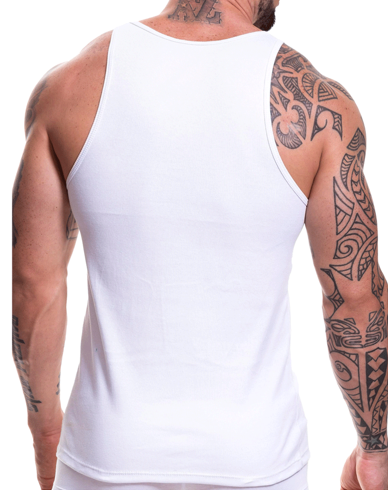 Jor 0452 Life Tank Top White