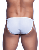 MALE BASICS MBL03 String Tulle Bikini White - Steveneven.com