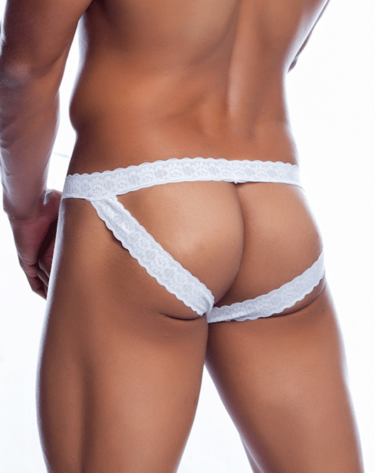 MALE BASICS MBL12 Lace JockStrap White - Steveneven.com