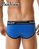 MANVIEW MV3001 Brief Campus Class Blue/White - Steveneven.com