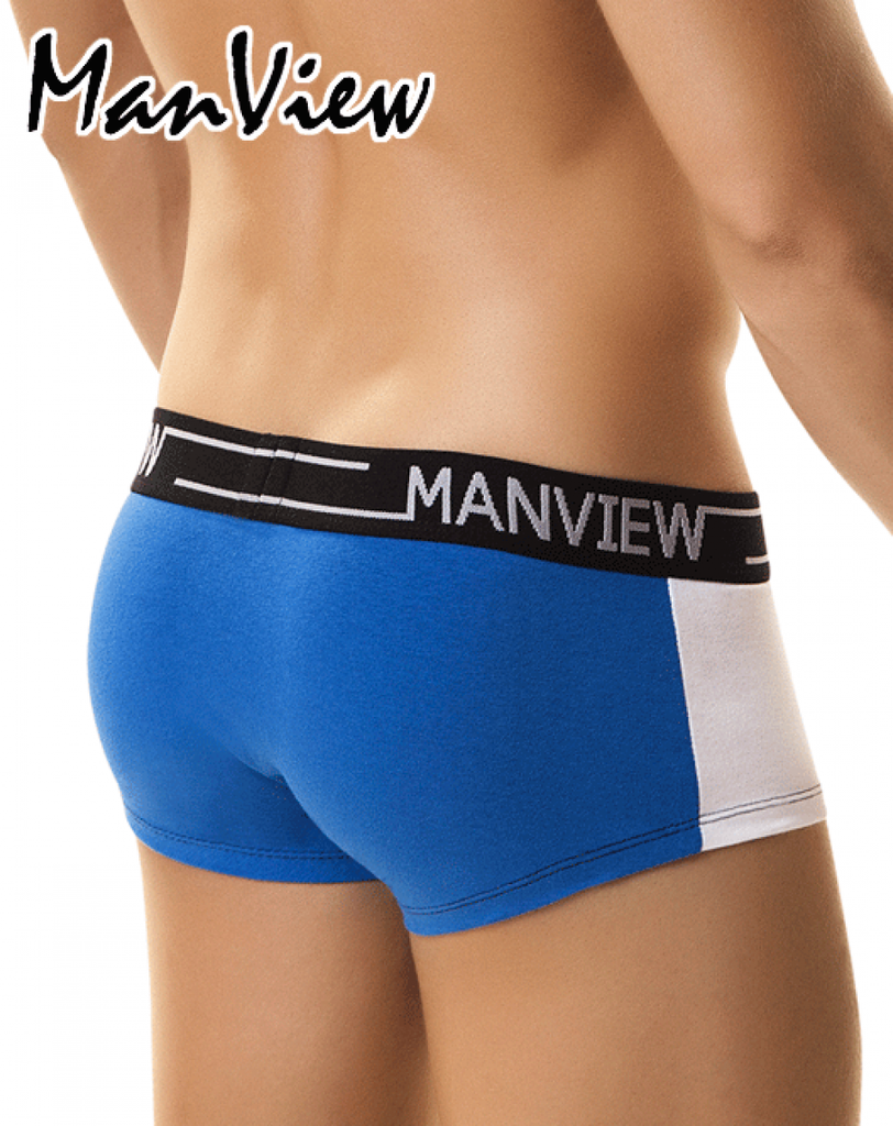 "MANVIEW MV3002 Boxer/Trunk Campus Class 5"" Blue/White - Steveneven.com"