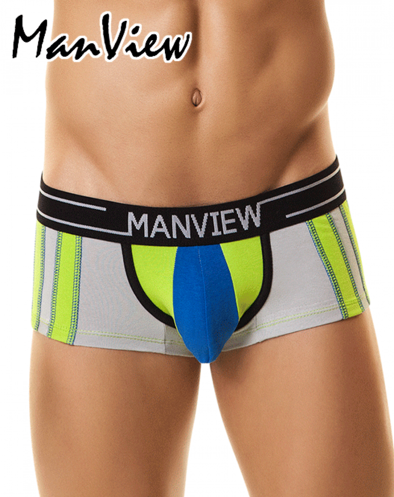 "MANVIEW MV5002 Boxer/Trunk Campus Fraternity 5"" Blue/Green"