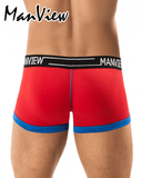MANVIEW MV9001 Stretch Cotton Spectrum Boxer Red