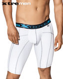 Xtremen 51339 Sports Boxer with decorative Stitching White-Gray - StevenEven.com