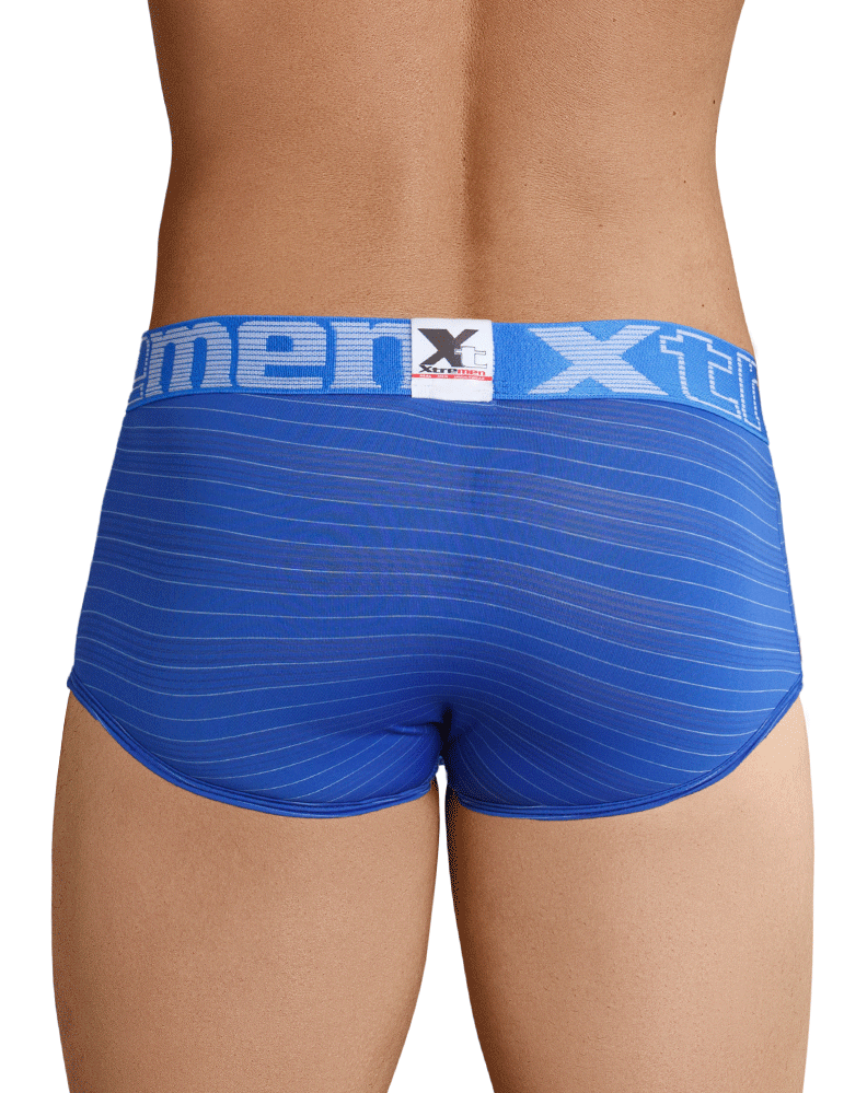 Xtremen 41310 Stripes Briefs Blue - StevenEven.com