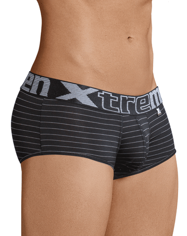 Xtremen 51408 Sport Performance Breathable Boxer Briefs White-Gray