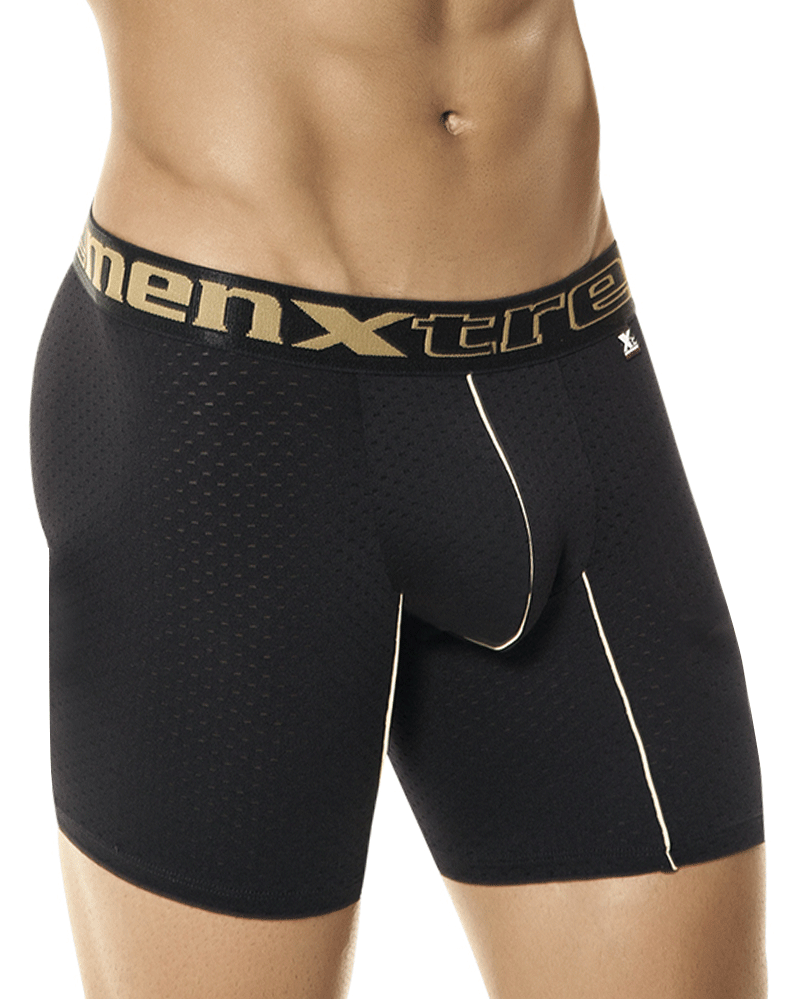 Xtremen 51349 Sports Boxer Brief Black 12""