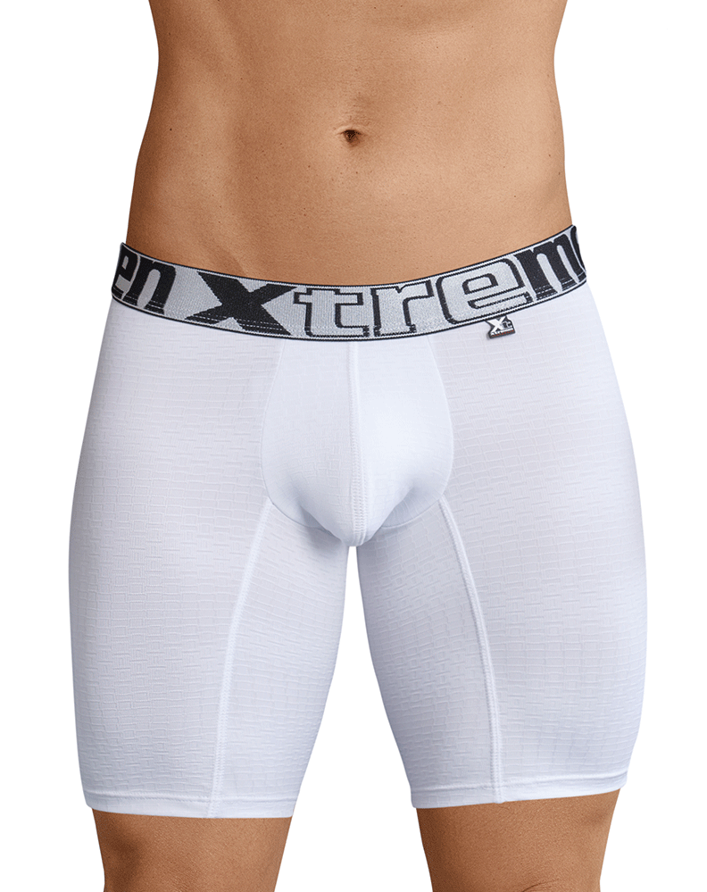 Xtremen 51436 Sports Boxer Briefs White