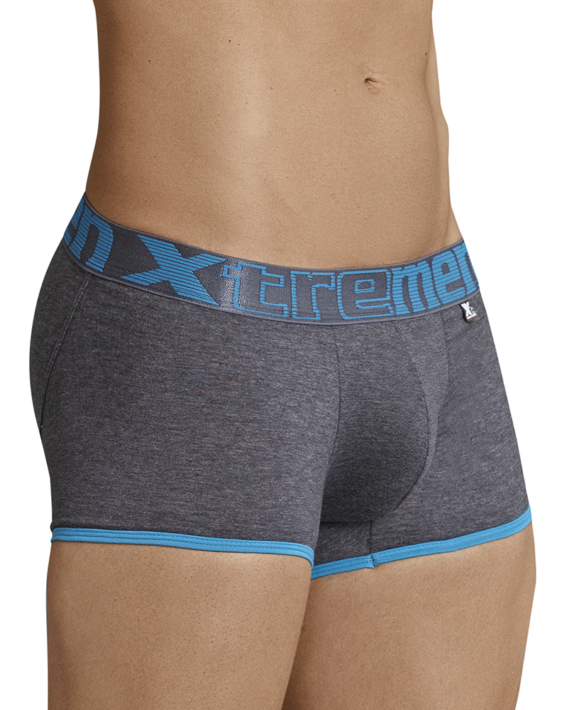 Xtremen 91027 Butt Lifter Boxer Briefs Dark Gray - StevenEven.com
