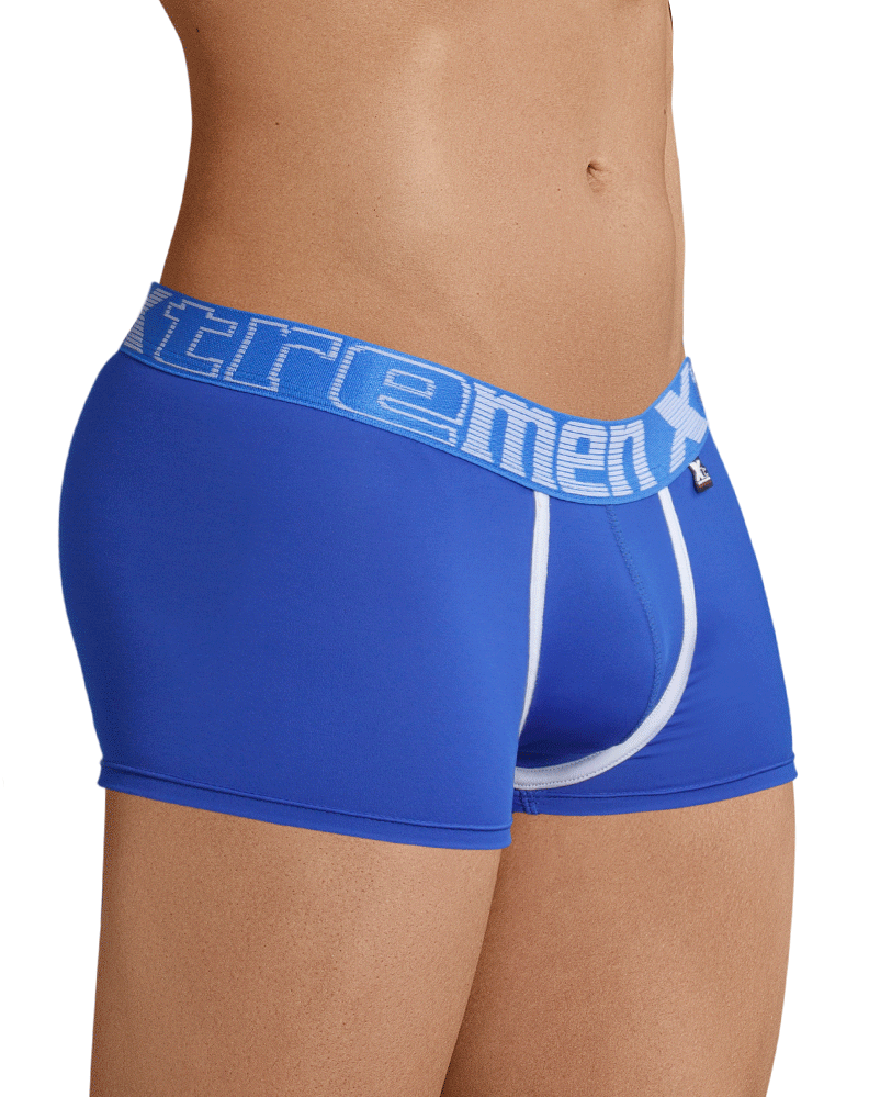 Xtremen 91028 Piping Boxer Briefs Blue