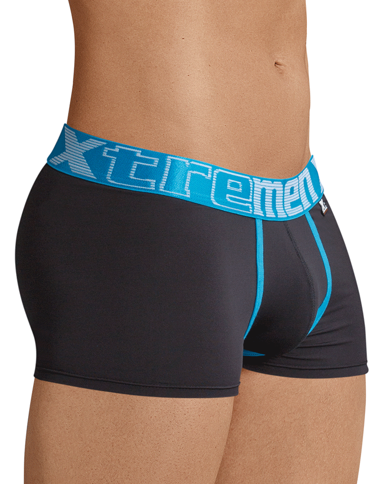 Xtremen 91028 Piping Boxer Briefs Black