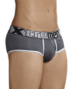 Xtremen 91029 Stripes Briefs Gray