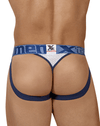 Xtremen 91060 Athletic Jockstrap Thongs White