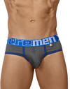 Xtremen 91062 Athletic Piping Briefs Gray