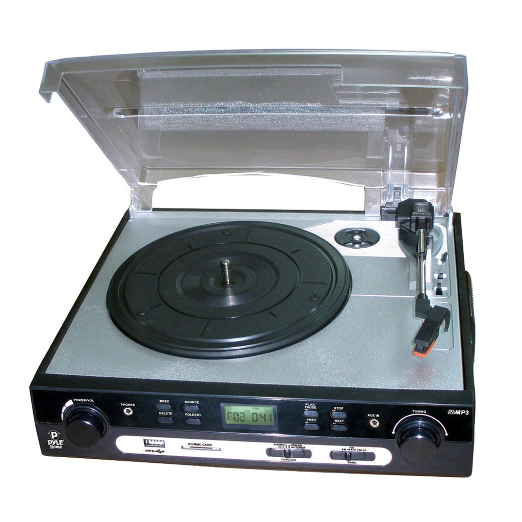 USB Turntable with direct-to-digital USB-SD Card Encoder & Built ...