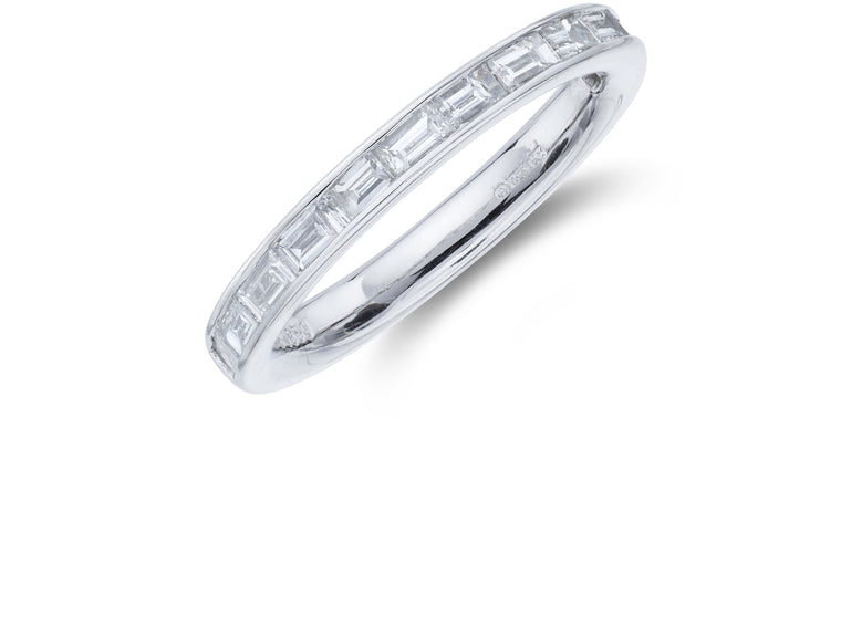 Platinum Baguette Diamond Channel Set Ring