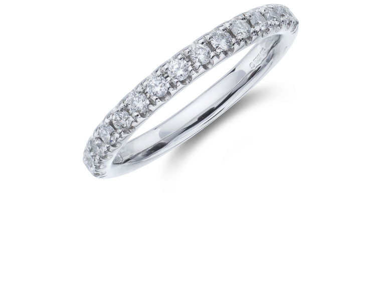 Platinum Claw Set Diamond Band