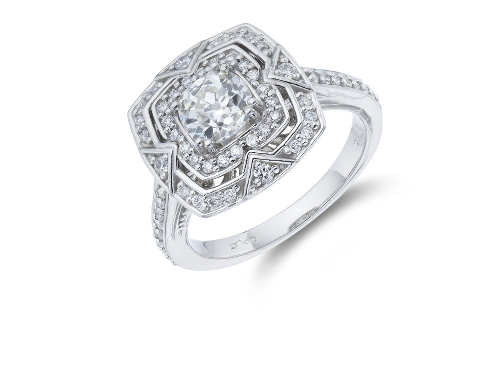 Platinum Art Deco Style Diamond Ring
