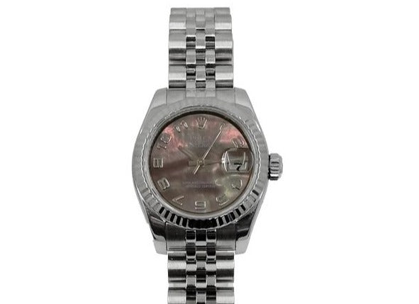 DateJust BLACK MOTHER-OF-PEARL